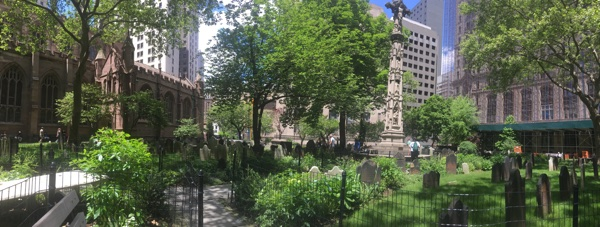 Friedhof an der Trinity Church, Manhattan, New York