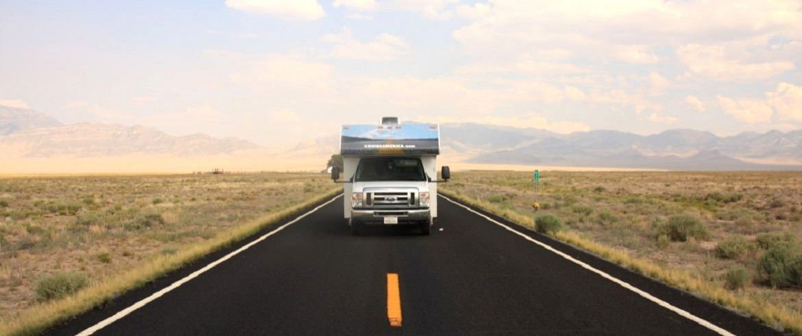 motorhome on the road USA